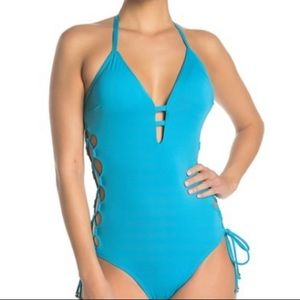 Laundry by Shelli Segal Strappy One-Piece Swimsuit
